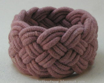 marsala rope bracelet hand dyed cotton cord turks head knot bracelet nautical rope work rope jewelry 3488