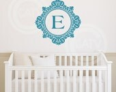 Custom Fancy Name initial Customizable Wall Decal vinyl lettering sticker monogram