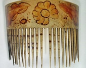 Antique Early 19th Century Dyed Horn Comb 1810s 1820s Half Price Sale