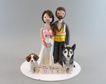 Construction Worker & Dentist Customized Wedding Cake Topper