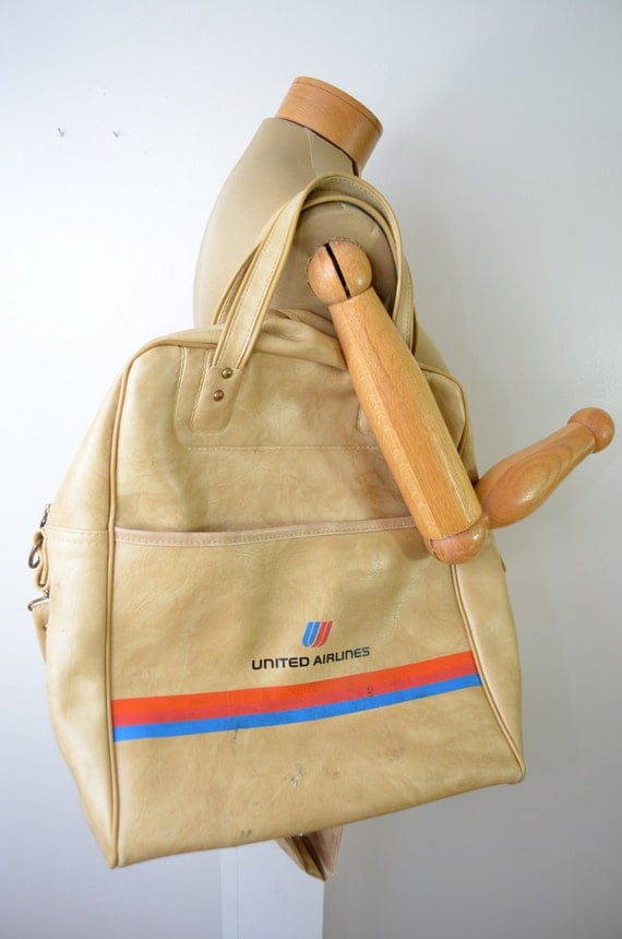 on sale united airlines vintage carry on bag by