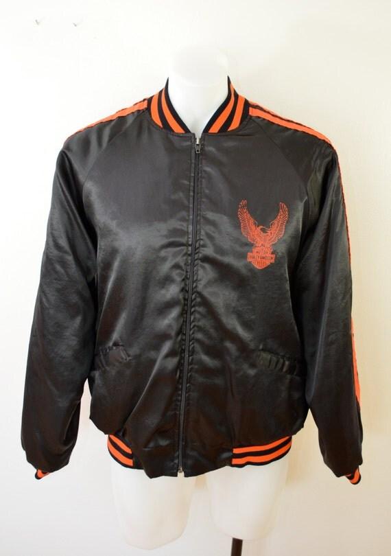 Vintage HARLEY DAVIDSON Satin Jacket Medium Made In Usa
