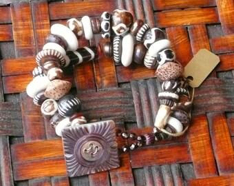 Bone and Wood Bracelet