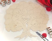 Wedding Tree Guest Book Puzzle Blank Puzzle Guest Book- 20-150 Piece Wedding Puzzle Guestbook Wedding Guestbook Alternative Guestbook ideas
