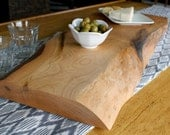 Natural Edge American Beech Serving Plank