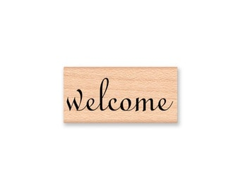 WELCOME RUBBER STAMP~Guests~Guest~Wedding~Script Font~Party Favours~Thank You~Welcome~Hello~Table Seating~Tags~Guest Book~ List (43)