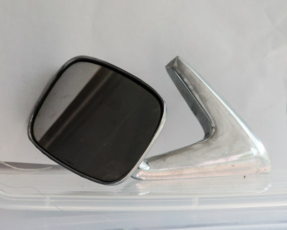 Vintage 1960 S 1970 S Drivers Side View Mirror Chrome
