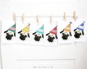 Party Pugs - Set of 6 Birthday Cards - Pug Birthday Card - Pug Birthday Cards - Dog Birthday Card - Dog Birthday Cards - Pug Card