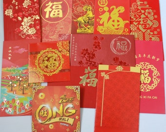 DESTASH - 30 Different Asian Oriental Chinese New Year Red Packet Envelope Ang Pow