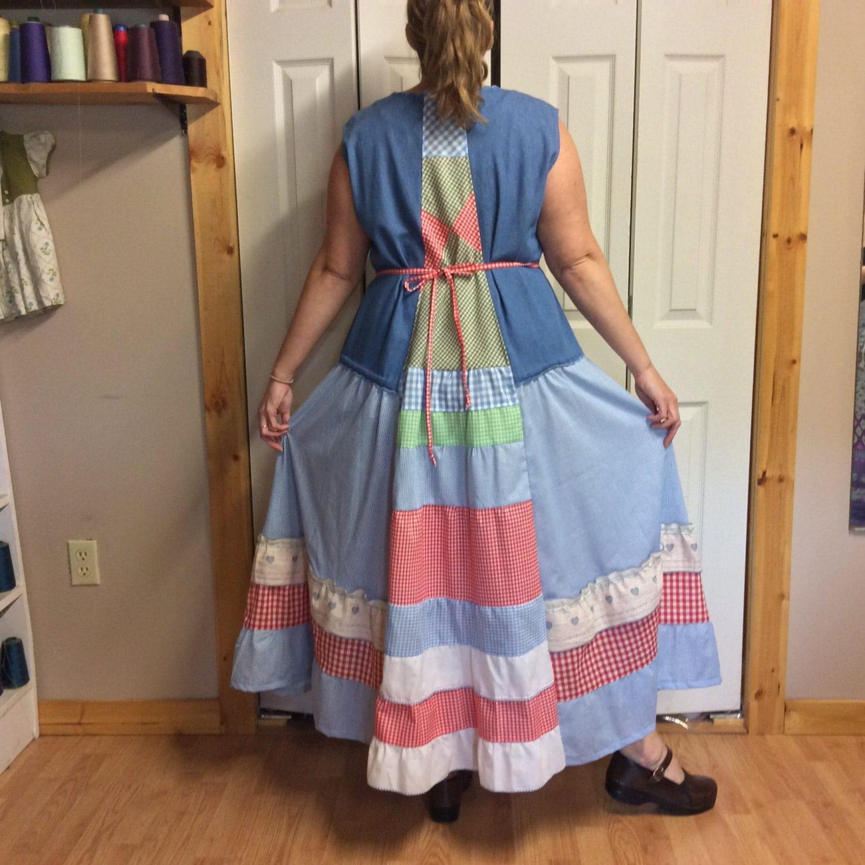 Denim jumper dress plus size