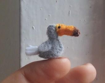 Tiny Dodo Bird - miniature felt extinct species tiny dodo felt dodo plush dodo miniature dodo dodo bird dodo collectables cute dodo