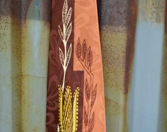 1940s Ties, Wembley Silk Tie, 1940s Neckties, Modern Design Tie, Wheat Design, Rockabilly Tie, Christmas Gift, Gift for Him,