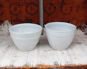 2x Bowls in White with a hint of blue Celadon glazes