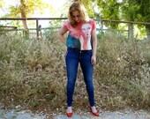 Digital Print Top, Red Hair Girl, Siren, Art Print Blouse, Hand Painted