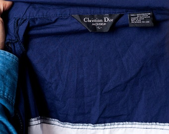 The Vintage Christian Dior Striped Short Sleeved Track Zip Up Jacket