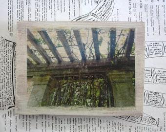 Original Miniature Art - Pergola - 4 1/2 x 6 1/4