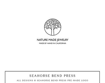 Logo Design, Pre-made Logo Identity, Small Business Branding, Wedding Logo and Branding, Nature Made (107)