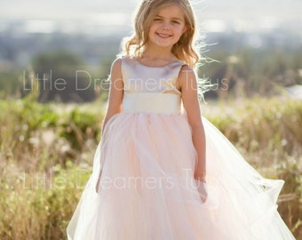 NEW! The Juliet Dress in Champagne Blush - Flower Girl Tutu Dress