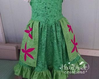 Frozen Fever Elsa Dress - Princess Inspired Dress - Sizes 6/12 months through 10 - Ships start of JUNE