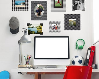 Photo Frame and Photo Corners Wall Decals reusable and removable