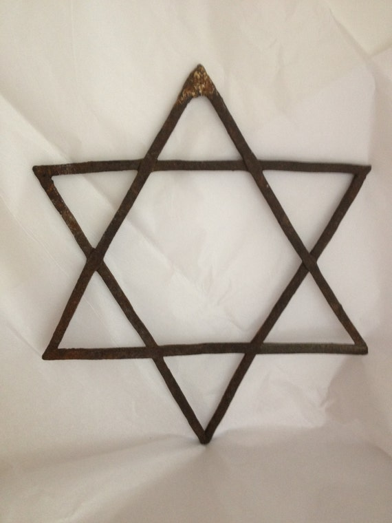 Vintage Star Wall Decor : Vintage star of david rustic wrought iron wall by