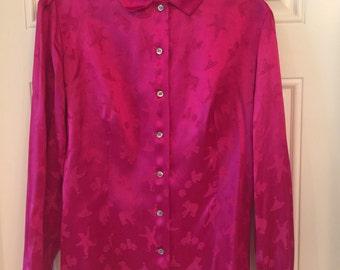 Women's Shirt- Pink Blouse