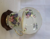 "Vintage DUCHESS Fine Bone China ""July"" Sweet Pea Tea Cup & Saucer, England"