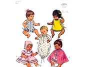 1970s Vintage Doll Clothes Pattern Simplicity 5275 Betsy Wetsy, Ginny Baby 12 inch Doll