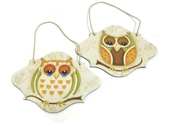 Hand Painted Owl Ornaments