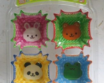 Cute Japanese Bento Side Dish Cups - Animals - 32 Pieces