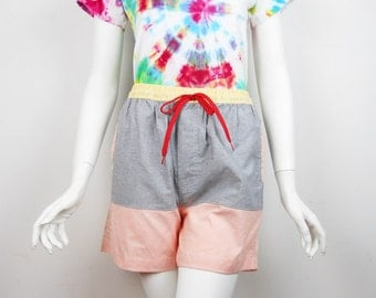 VTG 90s Colorblock Shorts Small Womans