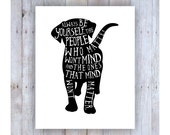 Lab Art, Lab Print, Always Be Yourself Typography, Kids Room Artwork, Dog Wall Decor, Cute Dog, Black and White Art, Motivational Quote