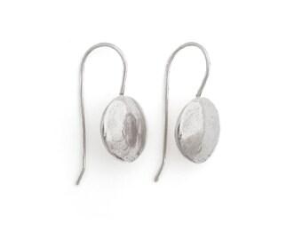 Artisan Earrings - Sterling Earrings - Silver Ranch Earrings - Oxidized Silver Earrings - Full Moon Earrings (ES-MN)