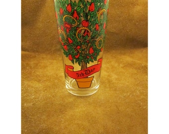 5th Day of Christmas –  Gold Rings - Twelve Days of Christmas Collection – Partridge in a Pear Tree Song –Vintage Christmas Glass by Pepsi