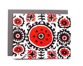 Suzani - letterpress card