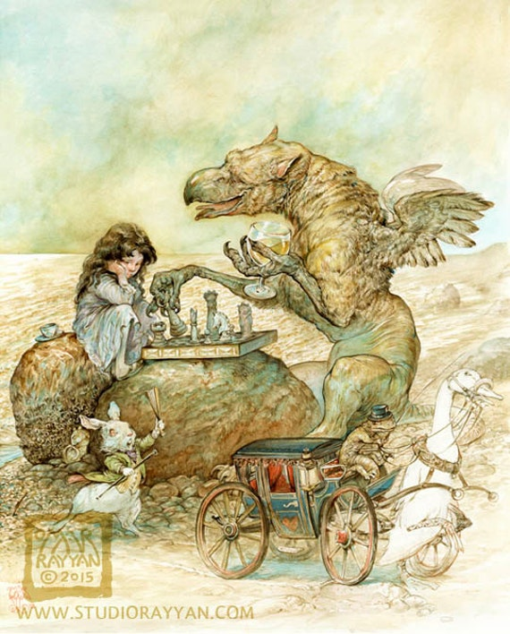 Interlude with the Gryphon (print) Alice in Wonderland