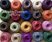 PN510 - Meadow Flowers - Valdani Perle Cotton Thread Bundle for Punch Needle Embroidery