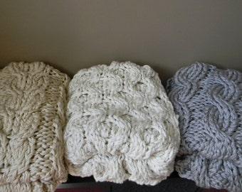 Super Chunky Knit Blanket Pattern : Giant Super Chunky Knit Blanket pattern Pattern Only