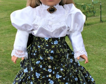 Victorian Outfit Blouse and Skirt Fits American Girl Doll