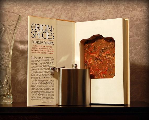 Hollow Book Safe & Flask (The Origin of Species)