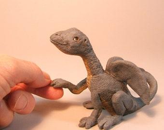 Dragon Baby Clay Sculpture