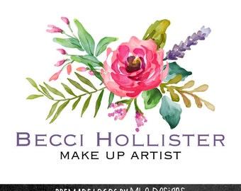 Premade Floral Logo Design - Watercolor Logos, Custom Logo Designs, Premade Logos, Boutique Logos, Photography Logos, Floral Logos