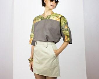 SALE Nicky Blouse / Eco Organic cotton kimono top - Last in stock S/M & L/XL