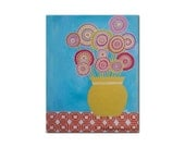 Summer Blooms / Original Acrylic Canvas Painting / Contemporary Art / 10 x 8 inches / Canvas Board