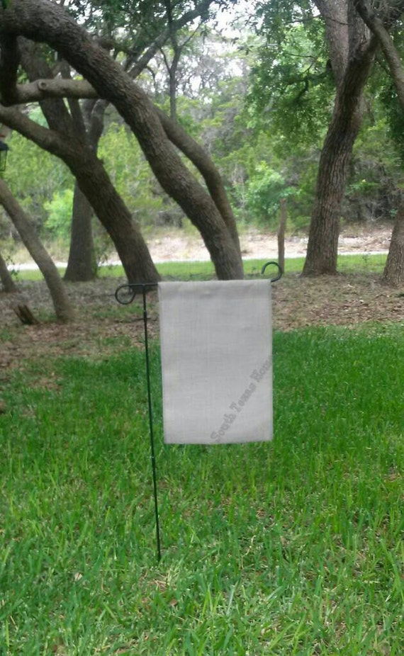 Gray Burlap Garden Flag Blank Ready To By Southtexashomespun