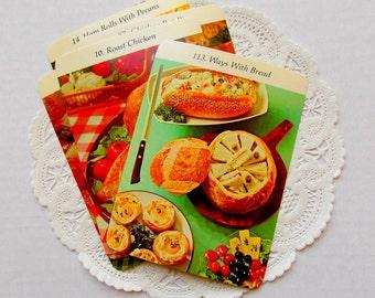 Vintage Recipe Cooking Cards / Junk Journal / Lot of 5 / Smash Book