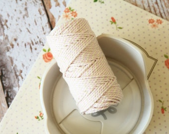 Cherry Blossom Pink Cotton Bakers Twine 20m