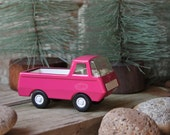 mini roadtrip - pink tonka pickup truck