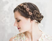 Athena - Rose Gold Leaf Crown -  Bridal or Special Occasion Boho Headband, crown, halo, hair piece