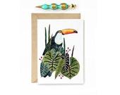 Toucan Tropical Greeting Card